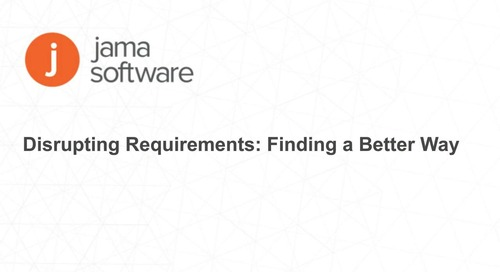Disrupting Requirements: Finding a Better Way