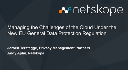Managing the challenges of the cloud under the new EU General Data Protection Regulation