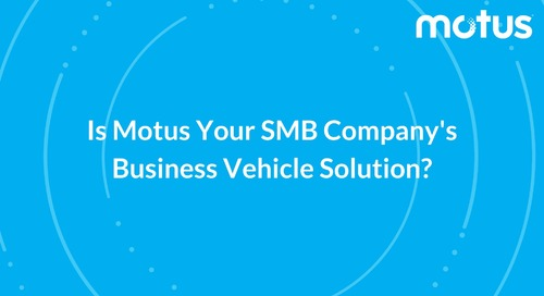 Is Motus Your SMB Company's Business Vehicle Solution?
