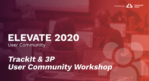 TrackIt & 3P User Community Workshop | ELEVATE 2020