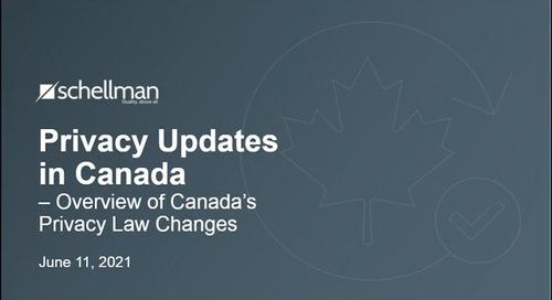 Privacy Updates in Canada