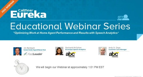 Optimize Performance Work-at-Home Agents