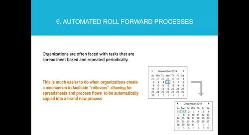 Ten Ways to Streamline your Excel Processes
