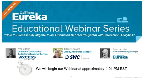 Use Interaction Analytics to Successfully Migrate to an Automated Scorecard System