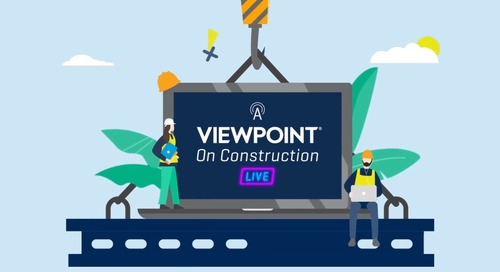 A Viewpoint on Construction Live - Nov, 17 2020 ViewpointOne: Fact or Fiction Part 1 - No More Confusion