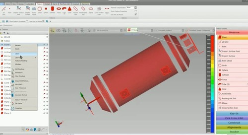 Using metrology software to capture data for reverse engineering