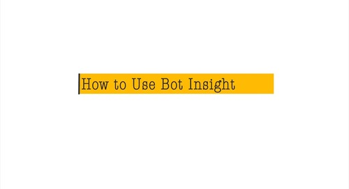 How to use Bot Insight
