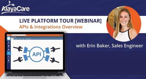 APIs - Live Platform Tour