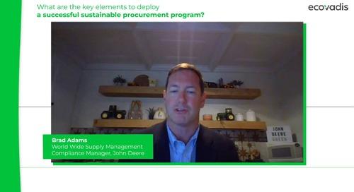 Was sind die wesentlichen Elemente, um ein erfolgreiches nachhaltiges Beschaffungsprogramm umzusetzen?