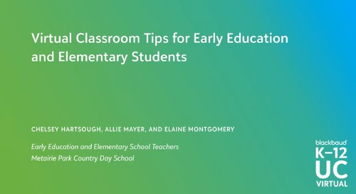 Virtual Classroom Tips for Early Childhood and Elementary School Students