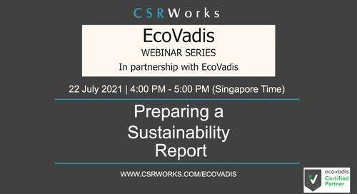 [CSRWorks] Preparing A Sustainability Report