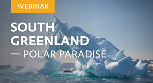 "Webinar: ""South Greenland – Polar Paradise"" with Glaciologists Dr. Michael Hambrey & Dr. Colin Souness"