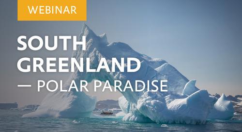 "Webinar: ""South Greenland – Polar Paradise"" with Glaciologists Dr. Michael Hambrey & Dr. Colin Souness"
