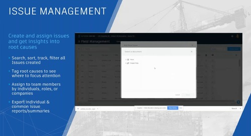 Optimize your onsite operations using BIM 360 Field Management workflows