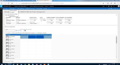 Dynamics 365 Work Breakdown Series - Part 2 - Resource Management