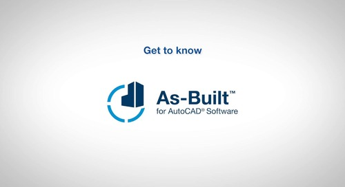 As-Built for AutoCAD Software