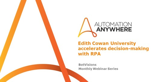 Edith Cowan University accelerates decision-making with RPA