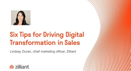 Six Tips for Driving Digital Transformation in Sales