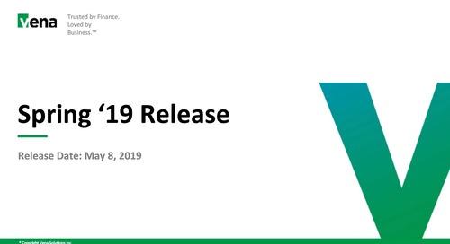 Vena Spring '19 Product Release Webinar
