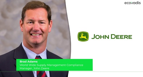Brad Adams at John Deere Shares Keys To Deploy A Successful Sustainable Procurement Program