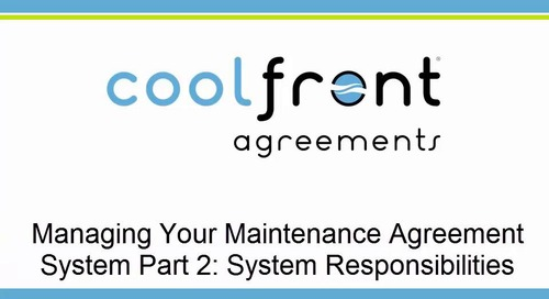 Managing Your Maintenance Agreement System Part 2
