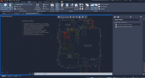 AutoCAD LT 2021 Drawing History