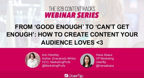 From 'Good Enough' to 'Can't Get Enough': How to Consistently Create Content Your Audience Loves