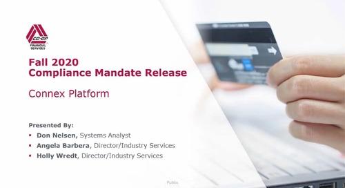 Fall 2020 Mandate Release - Connex