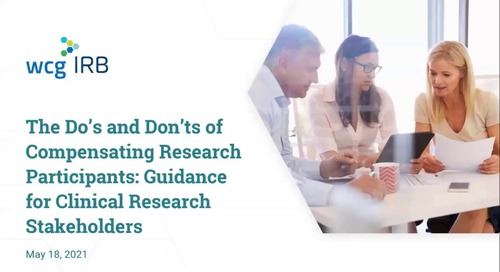The Do's and Don't of Compensating Research Participants