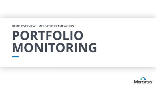 Portfolio Monitoring - Overview Demo