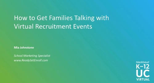 How to Get Families Talking with Virtual Recruitment Events
