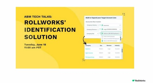 ABM Tech Talks: RollWorks' Identification Solution