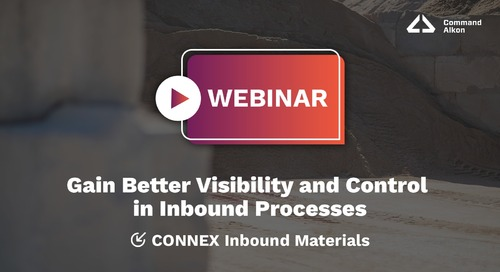 Gain Better Visibility and Control in Inbound Processes