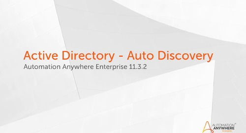 Enterprise 11.x Features - Active Directory Auto Discovery