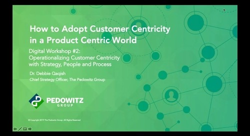 Webinar: Customer Centric Workshop Series - Session 2