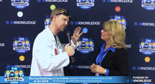The ConTechCrew at AU 2018: Rob McKinney chats with Lisa Duncan from TOPCON