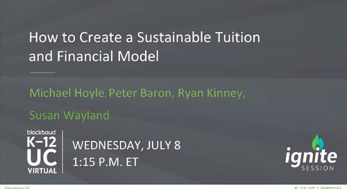 Ignite: How to Create a Sustainable Tuition and Financial Aid Model