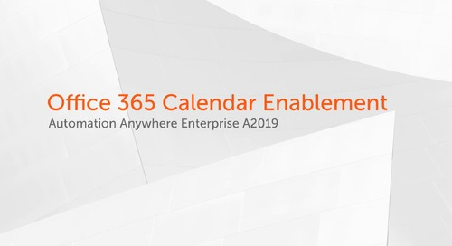Office 365 Calendar Enablement