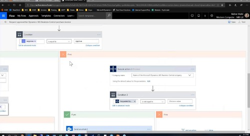 Using Power Automate (formerly Microsoft Flow) Integrated with D365 Business Central