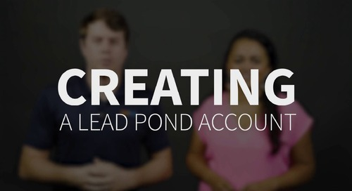 ProTip: Creating a Lead Pond Account