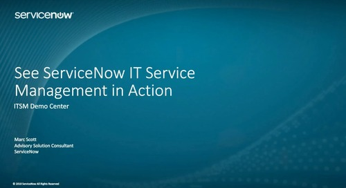 ServiceNow On-Demand Webinar: See IT Service Management in Action