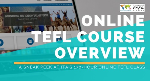 What to Expect From International TEFL Academy's Online TEFL Class