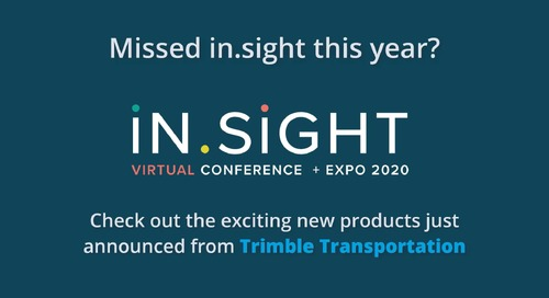 in.sight 2020 Product Launches