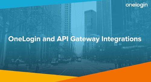 OneLogin and API Gateway Integrations