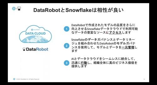DataRobot x Snowflake で実現 -データによるビジネス価値の最大化