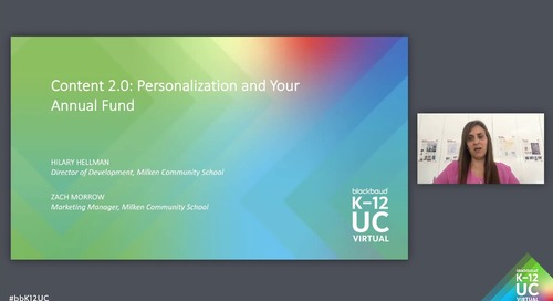 Content 2.0: Personalization and Your Annual Fund