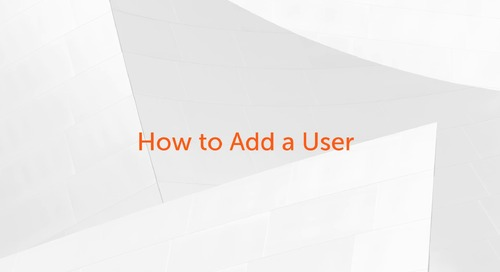 Enterprise A2019 - How to add a new user