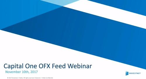On-Demand Webinar: Capital One OFX Feed