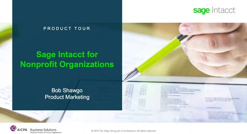 Sage Intacct Product Tour for Nonprofit Organizations
