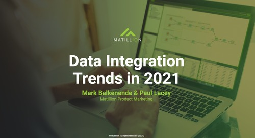 Webinar - Top Data Integration Trends in 2021